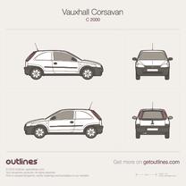 Vauxhall Corsavan blueprint