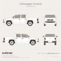 2010 Volkswagen Amarok Crew Cab Pickup Truck blueprint