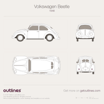 1948 Volkswagen Beetle Typ 1 Sedan blueprint