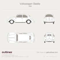 1948 Volkswagen Beetle Typ 1 Sedan blueprint