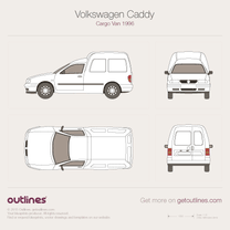 1997 Volkswagen Caddy Cargo Van Van blueprint