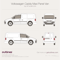 2004 Volkswagen Caddy Maxi Panel Van Typ 2K LWB Van blueprint