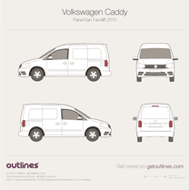 2015 Volkswagen Caddy Panel Van Typ 2K Facelift II Van blueprint
