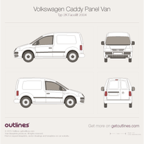 2004 Volkswagen Caddy Panel Van Typ 2K Van blueprint