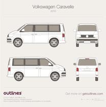 2015 Volkswagen Caravelle T6 Van blueprint