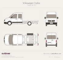 2017 Volkswagen Crafter Chassis Chassis Cab Van blueprint
