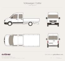 2017 Volkswagen Crafter Truck Crew Cab Pickup Truck blueprint