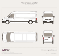 2017 Volkswagen Crafter Delivery Van Van blueprint