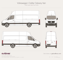 2006 Volkswagen Crafter Delivery Van LWB Super-High Roof Van blueprint