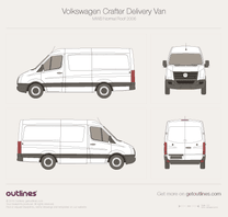 2006 Volkswagen Crafter Delivery Van MWB Normal Roof Van blueprint