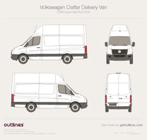 2006 Volkswagen Crafter Delivery Van MWB Super-High Roof Van blueprint