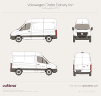 2006 Volkswagen Crafter Delivery Van SWB High Roof Van blueprint