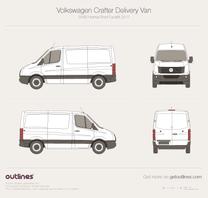 2011 Volkswagen Crafter Delivery Van SWB Normal Roof Facelift Van blueprint