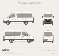 2011 Volkswagen Crafter Kombi  MWB Normal Roof Facelift Wagon blueprint
