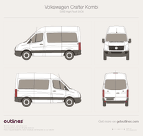 2006 Volkswagen Crafter Kombi SWB High Roof Wagon blueprint