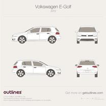 2012 Volkswagen Golf Electric Mk7 5-door Hatchback blueprint