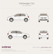 2009 Volkswagen Gol G5 Brasil 5-door Hatchback blueprint