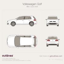 Volkswagen Golf blueprint