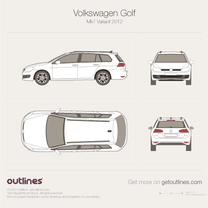 2012 Volkswagen Golf Estate Mk7 Wagon blueprint
