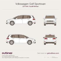 2013 Volkswagen Golf Sportsvan Mk I Minivan blueprint
