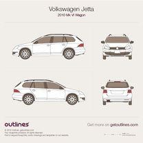 2006 Volkswagen Jetta A5 Wagon blueprint