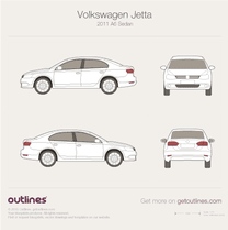 2011 Volkswagen Jetta A6 Sedan blueprint