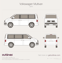 2015 Volkswagen Multivan T6 Wagon blueprint