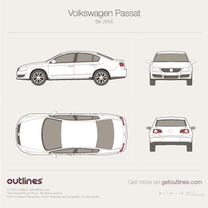 2005 Volkswagen Passat B6 Sedan blueprint