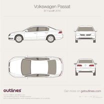 2011 Volkswagen Passat B7 Sedan blueprint