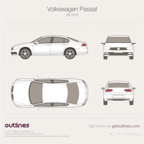 2015 Volkswagen Passat B8 Sedan blueprint