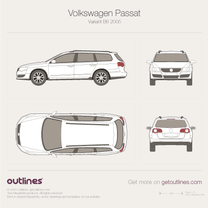 2005 Volkswagen Passat Variant B6 Wagon blueprint