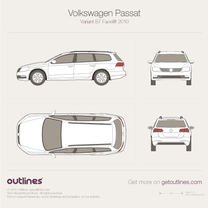 2011 Volkswagen Magotan Variant B7 Wagon blueprint