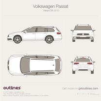 2015 Volkswagen Passat Variant B8 Wagon blueprint