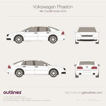 2007 Volkswagen Phaeton 3D Facelift Sedan blueprint