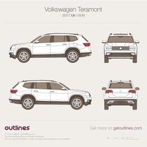 2017 Volkswagen Atlas SUV blueprint