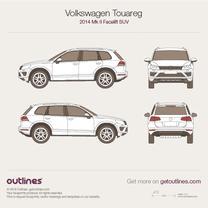 2014 Volkswagen Touareg 7P Facelift SUV blueprint