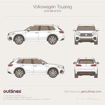 2018 Volkswagen Touareg Mk III SUV blueprint