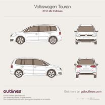 2010 Volkswagen Touran II Minivan blueprint