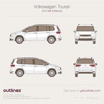 2015 Volkswagen Touran III Minivan blueprint