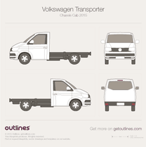 2015 Volkswagen Transporter Chassis Cab T6 Heavy Truck blueprint
