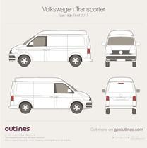 2015 Volkswagen Transporter Van T6 High Roof Van blueprint