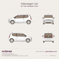 2012 Volkswagen Up! 3-door Hatchback blueprint