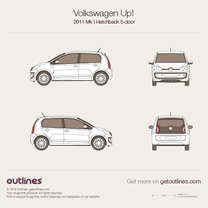 2012 Volkswagen Up! 5-door Hatchback blueprint