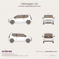 2016 Volkswagen Up! 3-door Facelift Hatchback blueprint