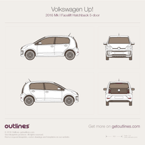 2016 Volkswagen Up! 5-door Facelift Hatchback blueprint