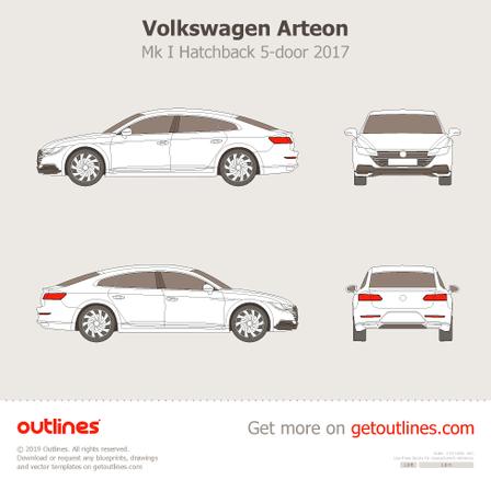 2017 Volkswagen Arteon Hatchback blueprints and drawings
