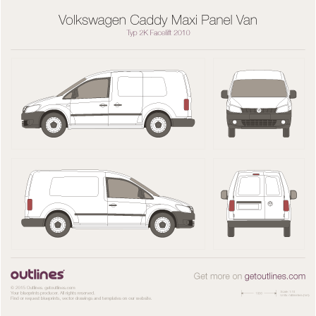 2010 volkswagen caddy maxi panel van typ 2k lwb facelift. Black Bedroom Furniture Sets. Home Design Ideas