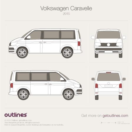 Volkswagen Caravelle blueprint
