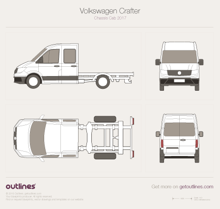 2017 Volkswagen Crafter Chassis Chassis Cab Van drawings