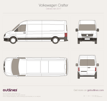 2017 Volkswagen Crafter Delivery Van Van blueprints and drawings